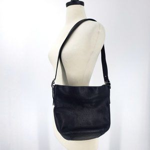Coach Black Leather Bucket Bag G1S-9186